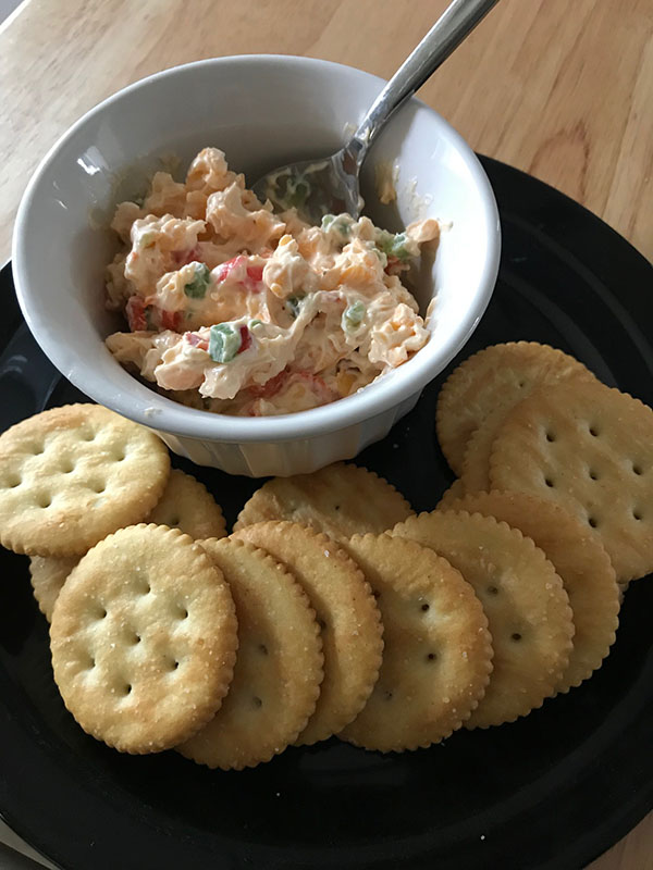 Beth made pimento cheese