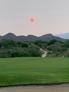 The sun in Arizona