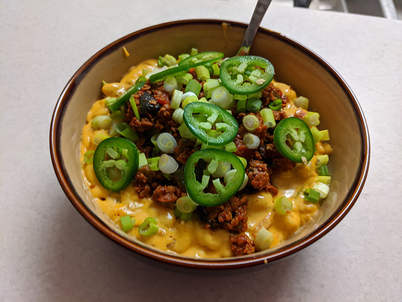 Soyrizo mac and cheese.